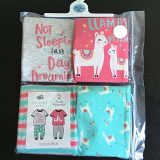 [readystock] Primark girls 2-set pyjamas (24-36months)