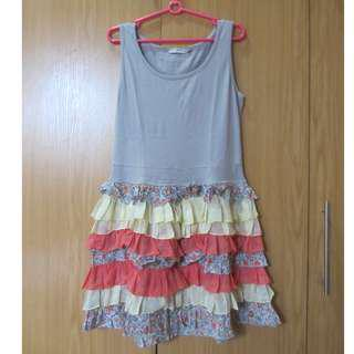 G2000 dress with chiffon details (used twice)