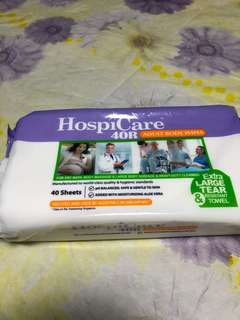 🆕 HospiCare 40R Adult Body Wipes