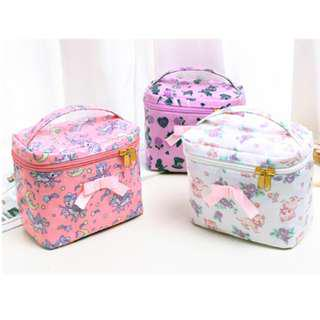 Korea waterproof Cute Makeup Bag +mirror makeup case/travel bag