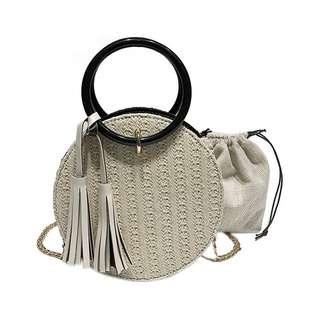 Woven Ratna round bag