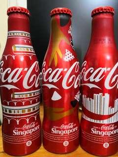 新加坡 可口可樂 紀念可樂 其中三支