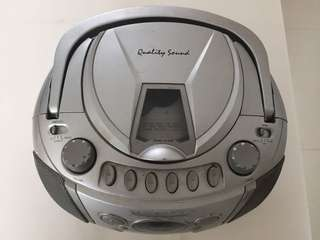 CD and cassette player