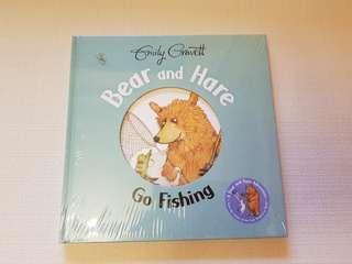 Children's Story Book - Bear and Hare Go Fishing by Emily Gravett