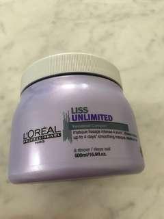 L'Oréal Liss unlimited hair mask