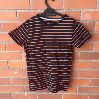 PreLoved Boys T-shirt (stripe, blue and orange)