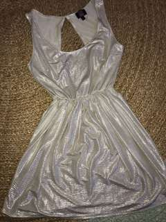 Gold mini dress size small pure hype