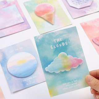 🚚 [INSTOCK] Watercolor pastel sticky note/ post it