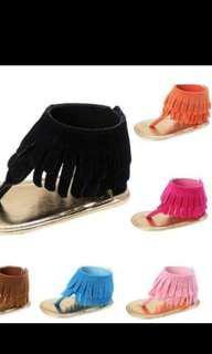 Tassel sandals fushia pink