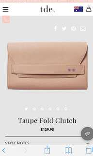 The daily edited Taupe fold clutch