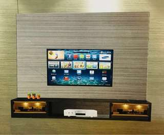 🚚 Tv feature wall tv console built in