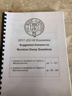 vjc h2 economics essay questions and answers