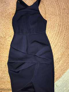Navy blue dress size 8 angel biba