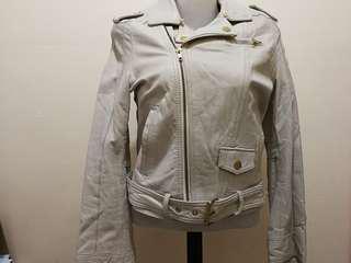Salad leather jacket