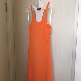 Polo Ralph Lauren Jersey Dress in Orange