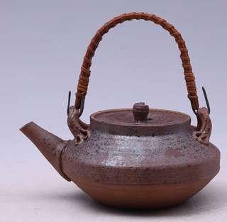日本柴燒古陶小急須