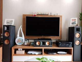 Klipsch and Denon speakers