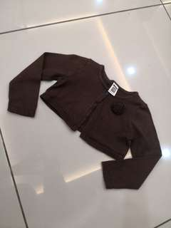 Carters Brown Cardigan (12-18m)