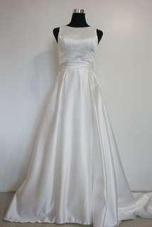 White Portrait-Neckline White Gown