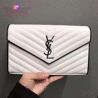 YSL WOC Chain bag clutch 鱼子酱链条包手拿包