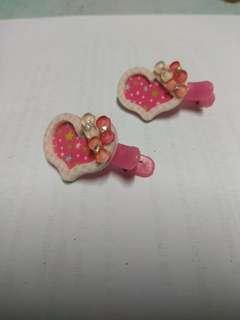 Love shape hair clip