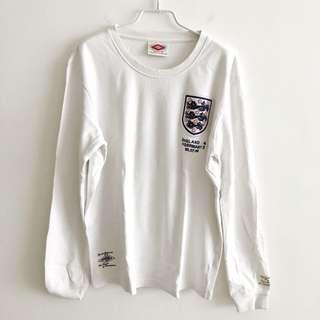 英格蘭 球衣 England sweater Umbro size M