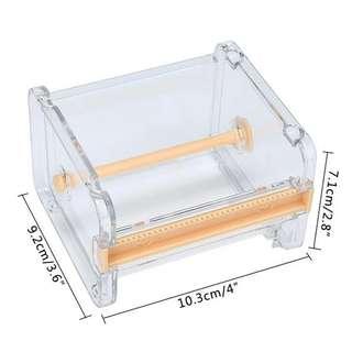 🚚 Japanese Stationery Masking Tape Cutter Washi Tape Storage Organizer/Cutter/Tape Dispenser