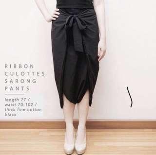 Ribbon Culots/ Celana Kulot Navy