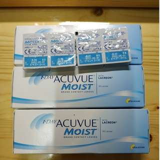 one day acuvue moist 近視600度