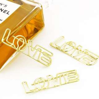 🚚 Gold paper clips (set of 4)