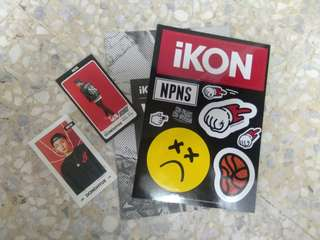 Preloved IKON Welcome Back Official Photocards and Sticker