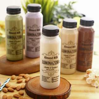 Almond Milk Luminazora FRESH & 100% tanpa bahan pengawet