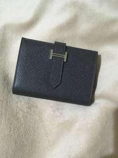 🚚 Hermes Epsom皮銀釦 短夾 零錢包