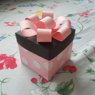 Pink Minnie Mouse Explosion Box