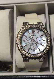 Guess white watch for ladies
