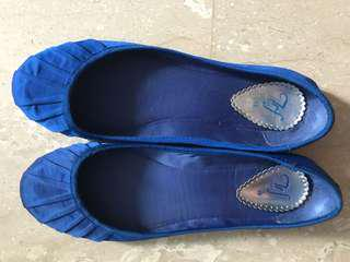 Zara TRF blue pumps