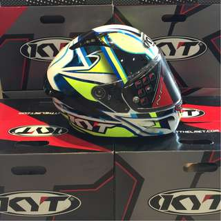 KYT FULLFACE LOCATELLI WITH DOUBLE VISOR !!!