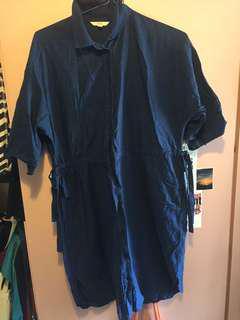 99%新UniQLO扣鈕連衣裙