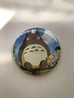 Totoro & Simpsons Badge