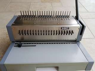 Binding machine (combed) HIC model HPB 210. Heavy duty.