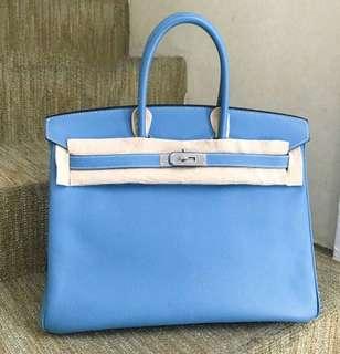 Hermès Birkin 35 牛仔藍 🐳EPSOM皮💎💎品相很好,線白白的🤟🏻現貨