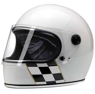 Brand New Biltwell Gringo S Limited Edition (White Checker Stripe) XL