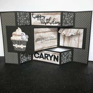 Tri fold display birthday card