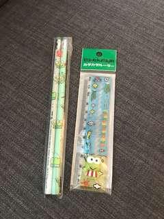 Keroppi 鉛筆及間尺
