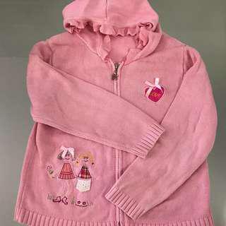 🚚 Pink Girl Knit Sweater Jacket Outerwear