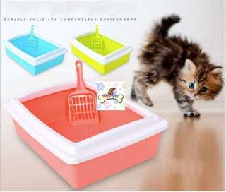 CAT RECTANGLE LITTER TRAY/LITTER BOX WITH FREE SCOOP