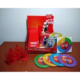 可口可樂50週年101紀念盒 可口可樂 x 太空戰士FF 人物公仔 鑰匙圈 藝術杯墊 大提琴手北極熊