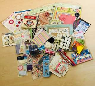 Assorted craft and stationery items