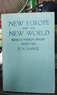 Antique book/New Europe and the New World