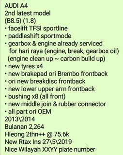 Audi a4 tip top condition sambungbayar